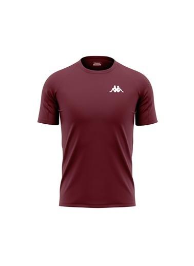 Kappa Poly T-Shirt Bux  Bordo